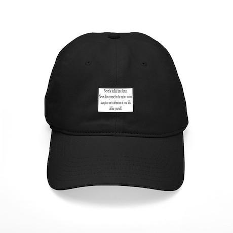 Define Yourself Black Cap