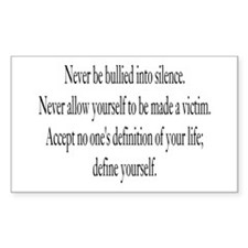 Define Yourself Rectangle Decal