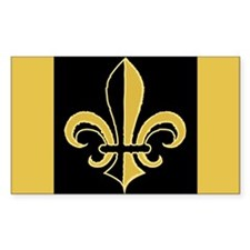 Fleur Black and Gold Rectangle Decal