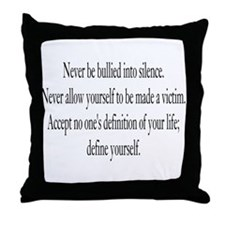 Define Yourself Throw Pillow