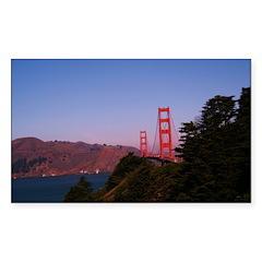 Golden Gate Bridge1 Rectangle Decal