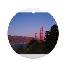 Golden Gate Bridge1 Ornament (Round)