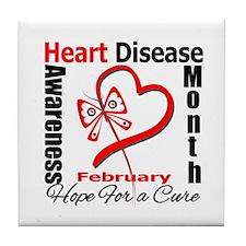 Heart Disease Month Tile Coaster
