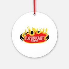 Flaming Crazy Ornament (Round)