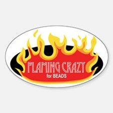 Flaming Crazy Oval Decal