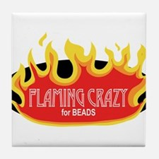 Flaming Crazy Tile Coaster