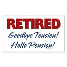 Retired: Goodbye Tension Hell Rectangle Decal