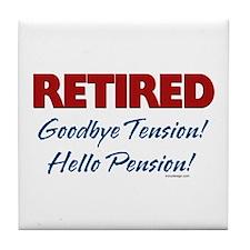 Retired: Goodbye Tension Hell Tile Coaster
