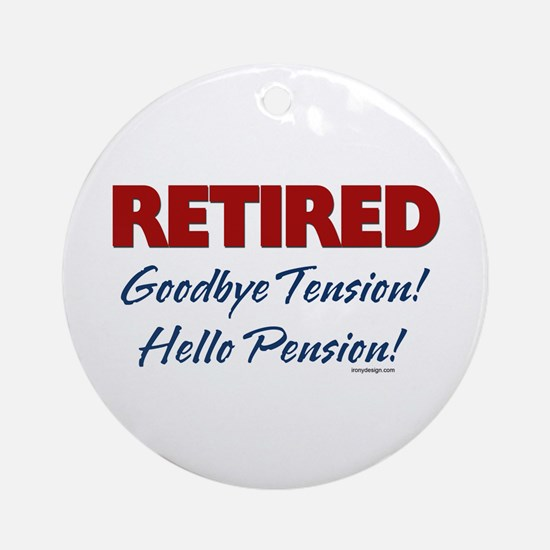 Retired: Goodbye Tension Hell Ornament (Round)