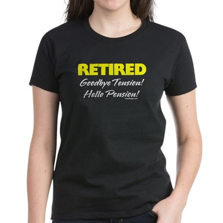 Retired: Goodbye Tension Hell Women's Dark T-Shirt