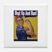 Shut Up and Run! Tile Coaster