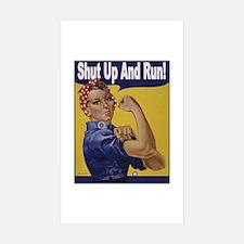 Shut Up and Run! Rectangle Sticker 10 pk)