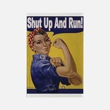 Shut Up and Run! Rectangle Magnet (10 pack)