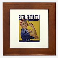 Shut Up and Run! Framed Tile