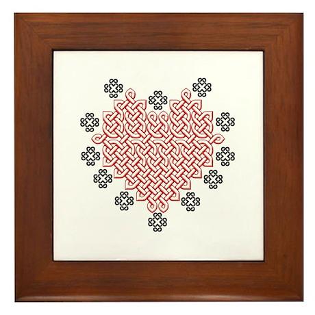 Celtic Heart Framed Tile
