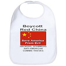 Boycott Red China Bib