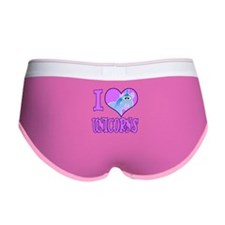 I Love (Heart) Unicorns Women's Boy Brief