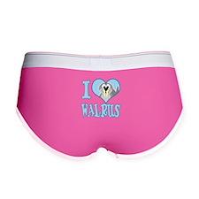 I Love (Heart) Walrus Women's Boy Brief