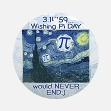 Pi Day never ends Ornament (Round)