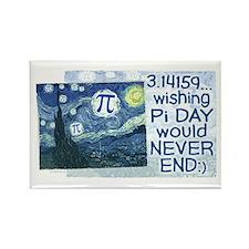 Pi Day never ends Rectangle Magnet