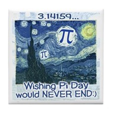 Pi Day never ends Tile Coaster