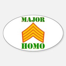 Major Homo Sticker (Oval)