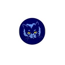Blue Cat Mini Button