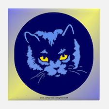 Blue Cat Tile Coaster