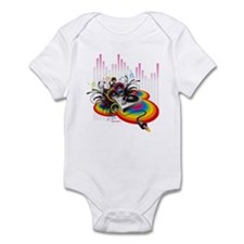 DJ Turntable 1 Infant Bodysuit
