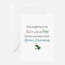 Kiss Frog Prince Greeting Card