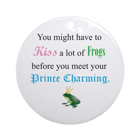 Kiss Frog Prince Ornament (Round)