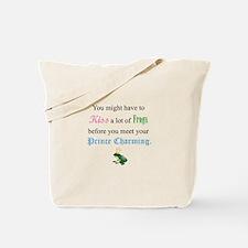 Kiss Frog Prince Tote Bag