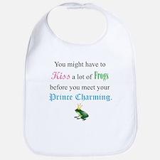 Kiss Frog Prince Bib