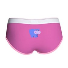 Blue Striped Hippo Women's Boy Brief