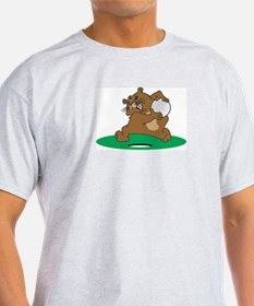 Golf Gopher Ash Grey T-Shirt