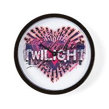 Twilight Valentine Magic Heart Wall Clock