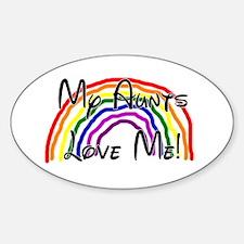 My Aunts Love Me Sticker (Oval)