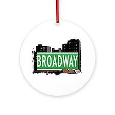 Broadway, Bronx, NYC Ornament (Round)