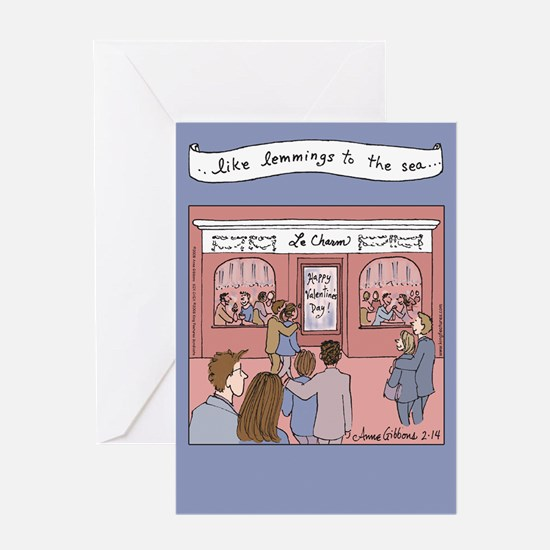 Lemmings by Anne Gibbons Greeting Card
