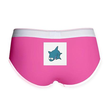 Goofy Blue Shark Women's Boy Brief