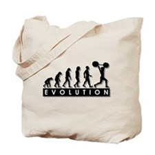 Evolution of Body Building Tote Bag