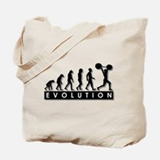 Evolution of Body Building Tote Bag