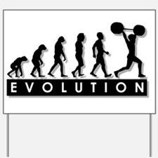Evolution of Body Building Yard Sign