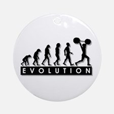 Evolution of Body Building Ornament (Round)