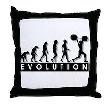 Evolution of Body Building Throw Pillow