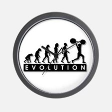 Evolution of Body Building Wall Clock