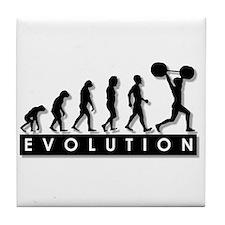 Evolution of Body Building Tile Coaster