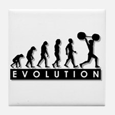 Evolution of Body Building Tile Coaster