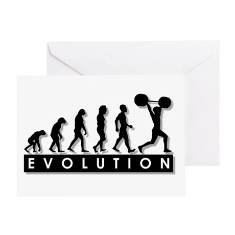 Evolution of Body Building Greeting Card