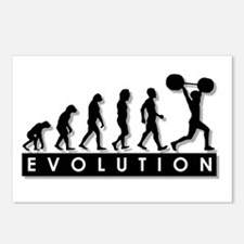 Evolution of Body Building Postcards (Package of 8